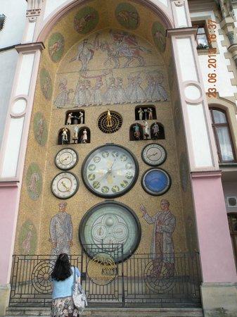 Olomouc Town Hall: Часы на старой ратуше
