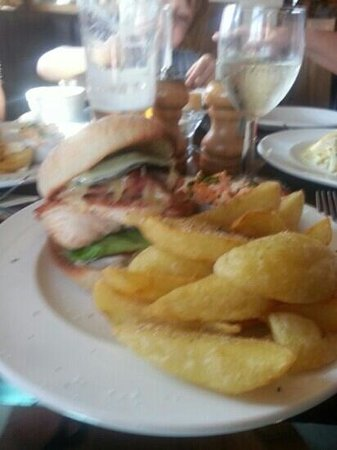 The Duke of York: I recommend the chicken burger .. perfect and the chips were the best I've ever had!