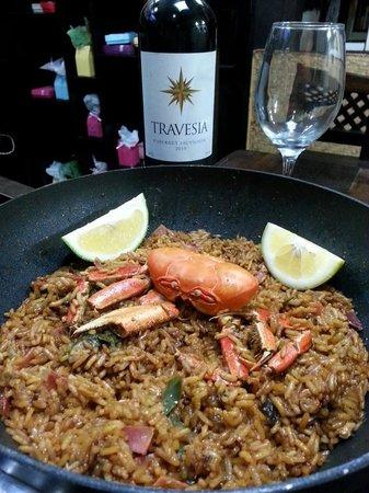 Amarelo Restaurant : paella de cangrejo
