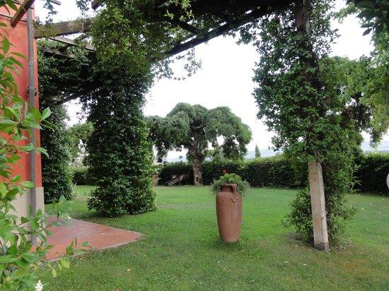 Villa Cassia di Baccano: Jadin junto a la piscina