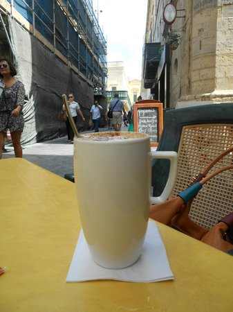 A' s Coffee & More: As I said: a large coffee, is truly large here!