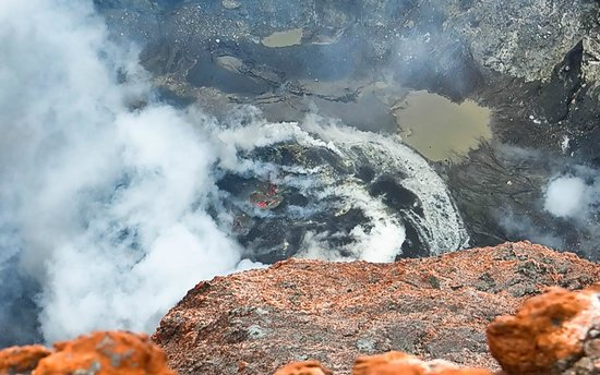 Jambi, Indonésia: Lava and smoke