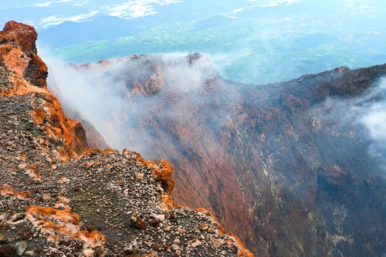 Jambi, Indonesia: Crater wall