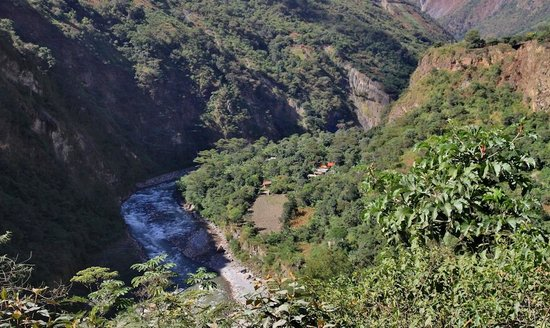 Yellow River: Looking down on Quellomayo from the Inca trail