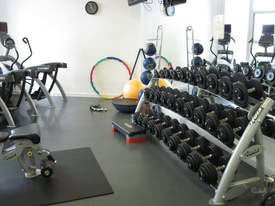 free weights in gym picture of pinnacle hotel at the pier north