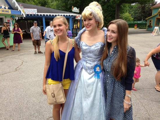Story Land: Cinderella poses with park visitors
