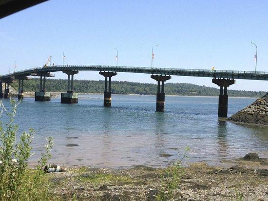 Bridge From Campobello Island Nb Canada To Lubec Maine Usa