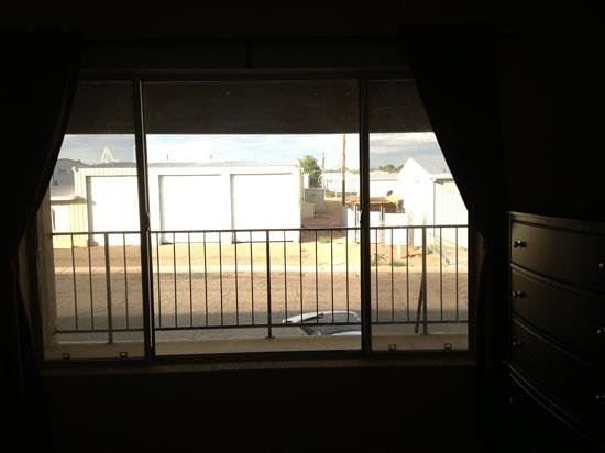 Suites on 10th: View from Master bedroom, not beautiful, but safe and quiet.