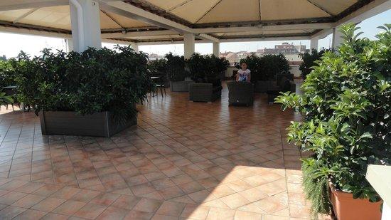 Grand Hotel Tiberio : terrasse