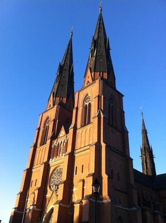Uppsala Cathedral: sunset