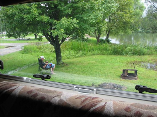 View of pymatuning lake from jamestown campground site 623 for Pymatuning fishing report