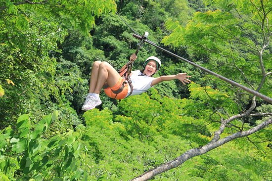 Nogalito Eco Park: Flying over our lush green forest
