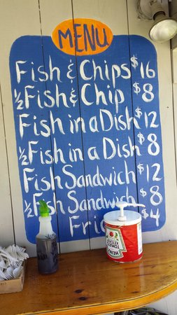 Bet's Fish Fry : menu August 2013 prices