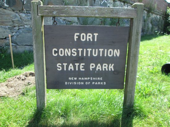 Fort Constitution Historic Site: sign