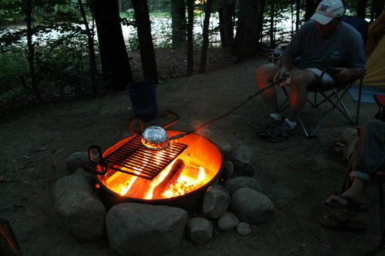 Jamaica State Park: Jiffy Pop on fire pit