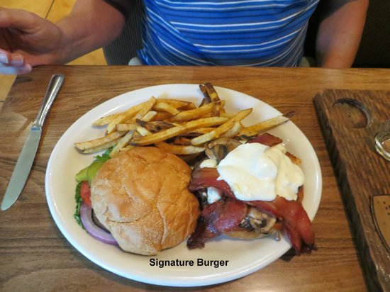 Three Creeks Brewing: Signature Burger
