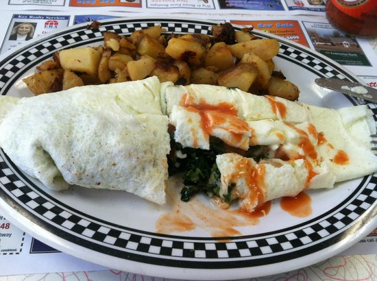 Dream Diner : Egg White Omelet with Spinach