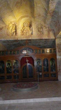 Serbian Orthodox Church: altar & wall carvings