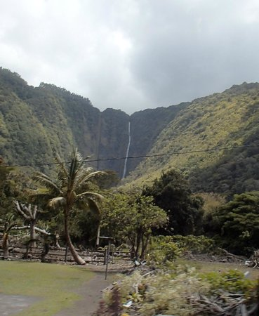 Waipi'o Valley Wagon Tours: 1400 foot waterfall
