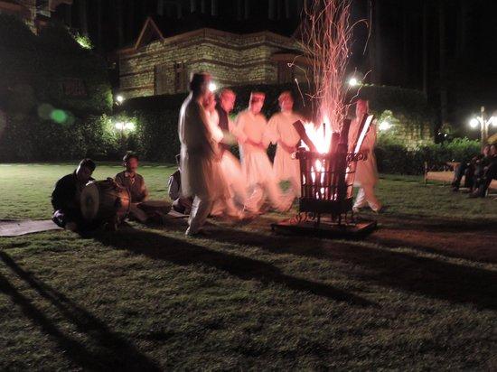 The Himalayan Village: Folk dance and bonfire