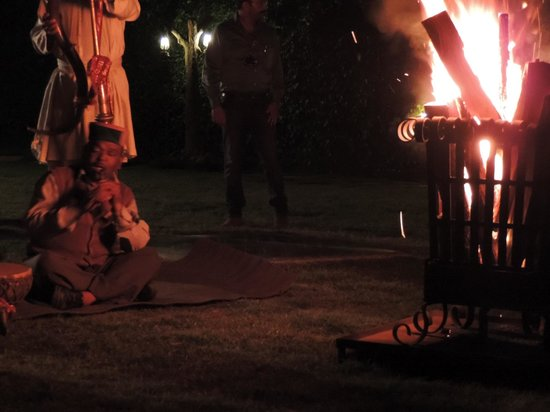 The Himalayan Village: Folk dance around bonfire