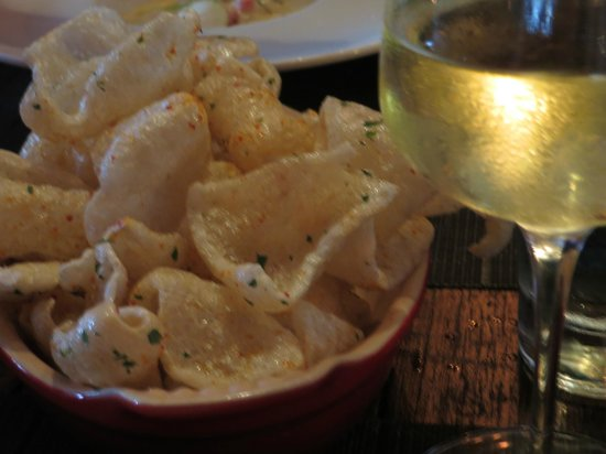 The Macintosh: Chardonnay and Pork Rind Chips