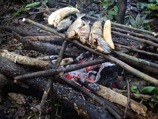 Otorongo Amazon River Lodge: BBQ fish