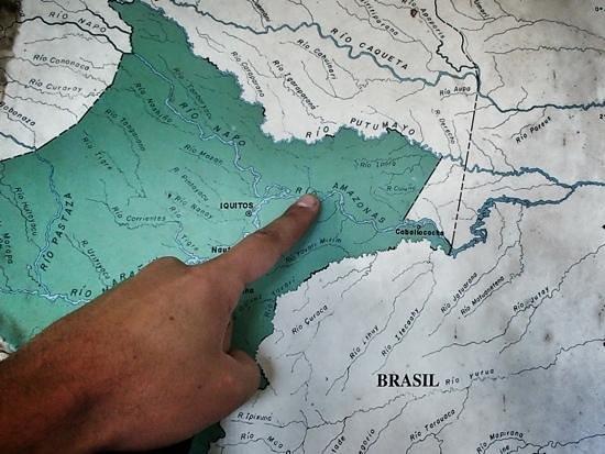 Otorongo Amazon River Lodge: the location.... remote!!
