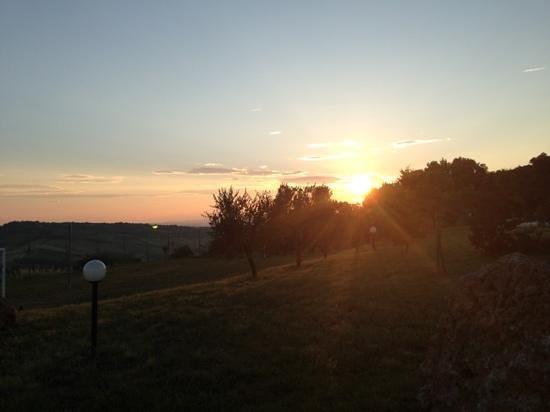Antico Borgo il Cardino: morning sunrise