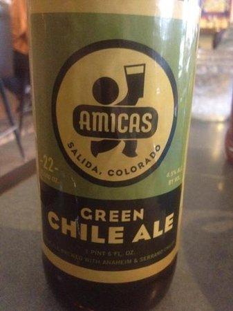 Hartsel, CO: they serve Amicas green chili ale!