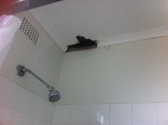 Blakehurst Motor Inn: Hole in shower ceiling