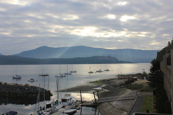 Oceanfront Suites at Cowichan Bay: View from my room on the morning of my wedding! PERFECTION!