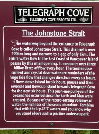 Telegraph Cove Resort : The history sign