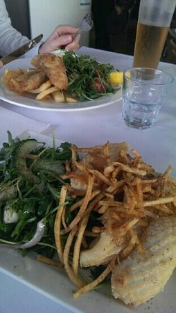 Domanis: calamari and tempura baramundi