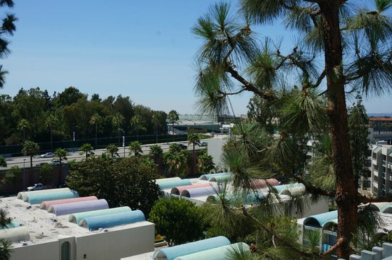 Howard Johnson Anaheim Hotel and Water Playground: View from Balcony Building1 , Level 7