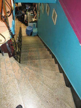 Cheers Hostel: All these steps leading to level 2