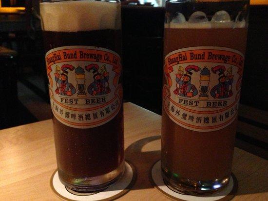 WaiTan PiJiu ZongHui: Glasses are nice. The Bund Brewery's range.