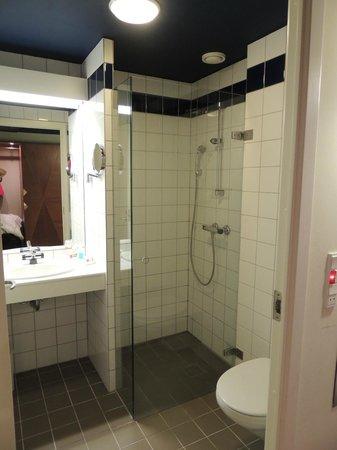 Comwell Kongebrogaarden : Pænt badeværelse, men meget småt.