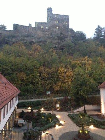 Hardenberg BurgHotel : Zimmerblick auf die Burg