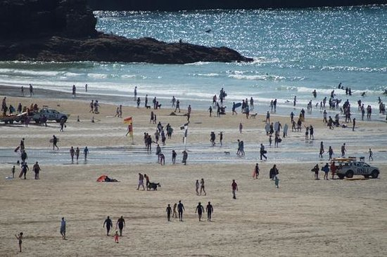 Ticket to Ride Surf School: Perranporth Beach at low tide