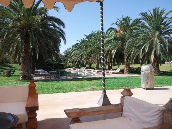 Ksar Char-Bagh: fuori dal ristorante con vista giardino