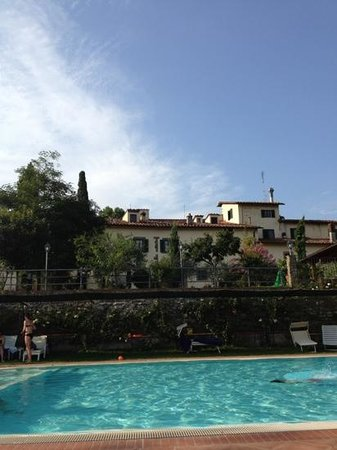 Villa Rigacci : view from the pool