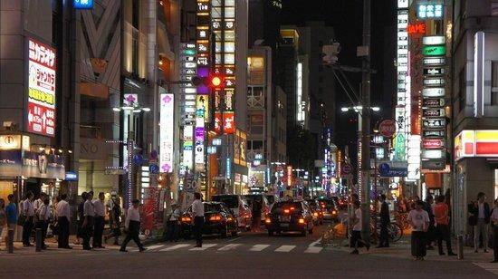 Sun Hotel Nagoya Nishiki: Nagoya Sakae district night scene