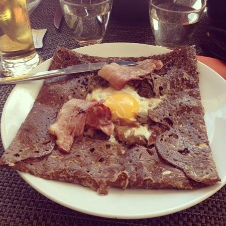 Crepes et coquillages : forestière
