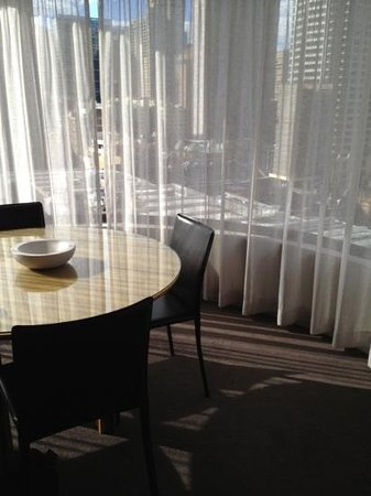 Adina Apartment Hotel Sydney Town Hall Dining Table And Bay Window View