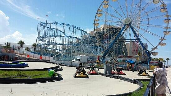 Daytona Beach Boardwalk And Pier Roller Coaster Is In Commission 6 Per Person Or