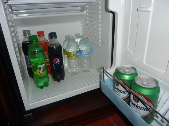 Catalonia Royal Bavaro: Drinks stocked daily in room fridge
