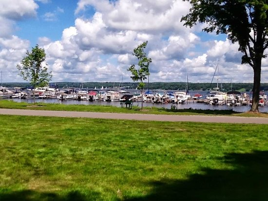Chautauqua Institution: The view of Chautauqua  Lake  from the Athenaeum Hotel