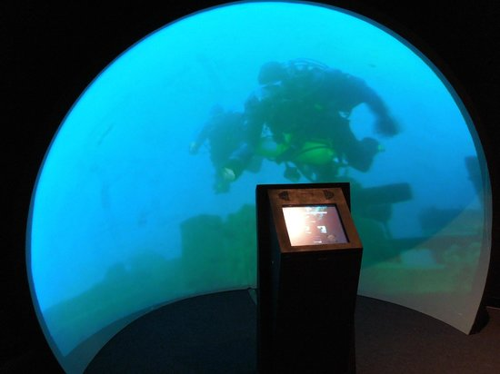 Thunder Bay National Marine Sanctuary: Sphere video projection