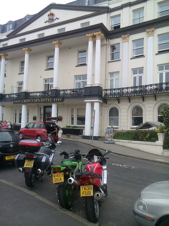 The Crown Spa Hotel: No off street motorcycl parking? At a 4 Star?